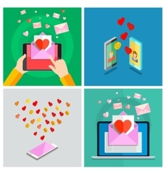 Love set Valentines day vector image