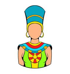queen of egypt icon cartoon vector image