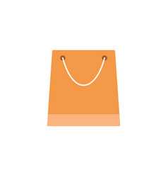 store and shopping bag flat icon modern sign vector image