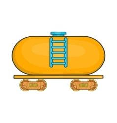 Tanker trailer on train icon cartoon style vector image vector image