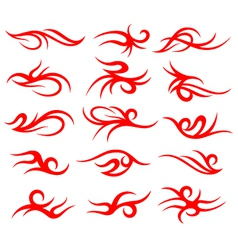 tribal tattoo element set vector image