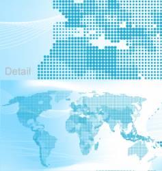 world map dots vector image vector image