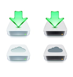 cloud storage and download concept vector image vector image