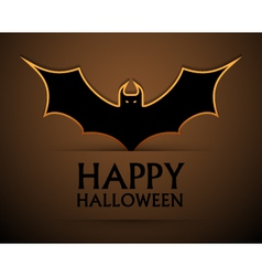 Happy halloween card with bat vector