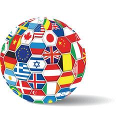 world flags ball vector image