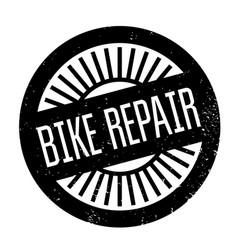 bike repair rubber stamp vector image