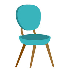 blue modern chair cartoon vector image vector image