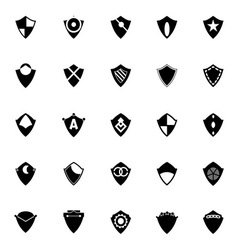 Design shield icons on white background vector image vector image