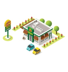 isometric fast food vector image vector image
