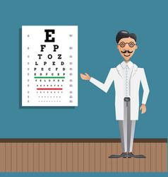 ophthalmologist eye testing vector image