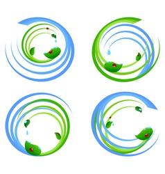 set of an environmental icons vector image vector image