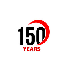 150th anniversary abstract logo one vector image