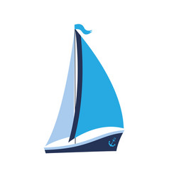 a ship with sails and an anchor can be used for vector image