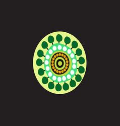 aboriginal art dots painting icon logo design vector image