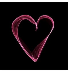 Abstract pink heart on black background vector image