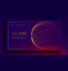 Abstract purple big data visualisation on dark vector
