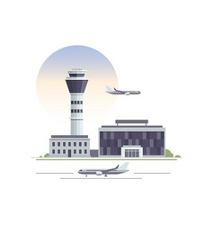 Airport building vector