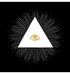 All seeing eye black vector