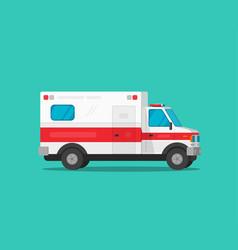 ambulance emergency car flat vector image