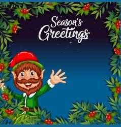 An Elf On Christmas Template Vector