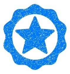 Award star seal grainy texture icon vector