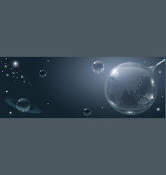 Banner of the universe vector