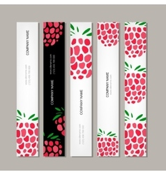 Banners template raspberry design vector