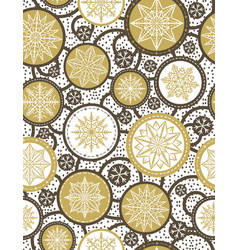 Beige seamless pattern background with snowflakes vector