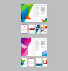 big set visual identity with letter logo elements vector image