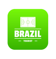 brazil tourist icon green vector image
