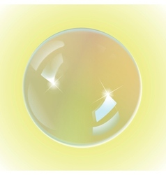 bubble white on yellow background vector image vector image
