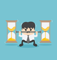 business bear the weight of the hourglass vector image