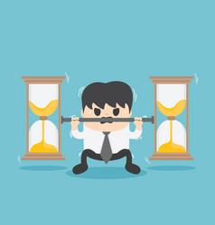 business bear weight hourglass vector image