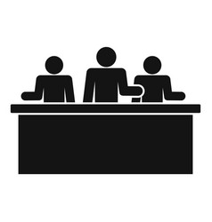 business meeting icon simple style vector image