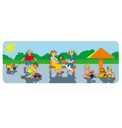 Children in a playground vector image