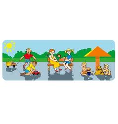 Children in a playground vector
