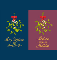 Christmas mistletoe poster vector