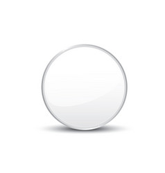 circle on white background vector image