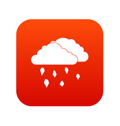 Clouds and hail icon digital red vector