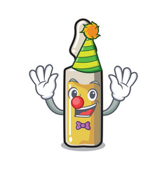 Clown ampoule mascot cartoon style vector