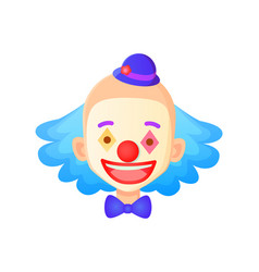 clown face wearing hat closeup smiling man vector image
