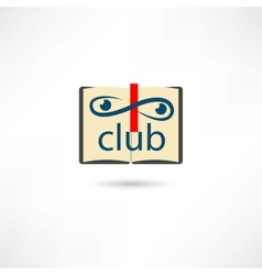 Club open book vector image vector image