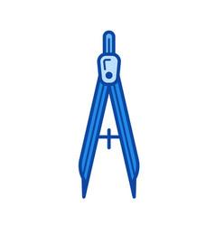 compasses line icon vector image
