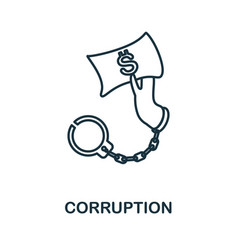 Corruption icon simple element from management vector