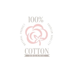 Cotton Product Logo Design vector image