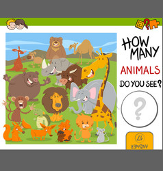 count animals game for kids vector image