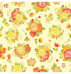 Cute seamless pattern with decorative rosettes vector