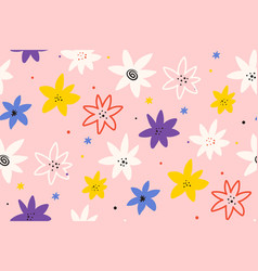 cute summer background abstract floral seamless vector image