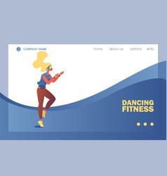 dancing fitness school banner or landing page vector image