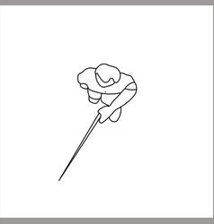 Design sketch a blind man walking vector